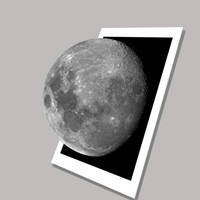 Polaroid Pop-out Moon by astronomymike