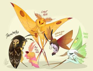 Moths by VivzMind