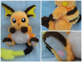 Fully Poseable Raichu plushie by angelberries