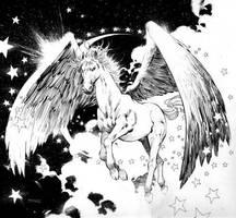 Pegasus by burntoutsouls