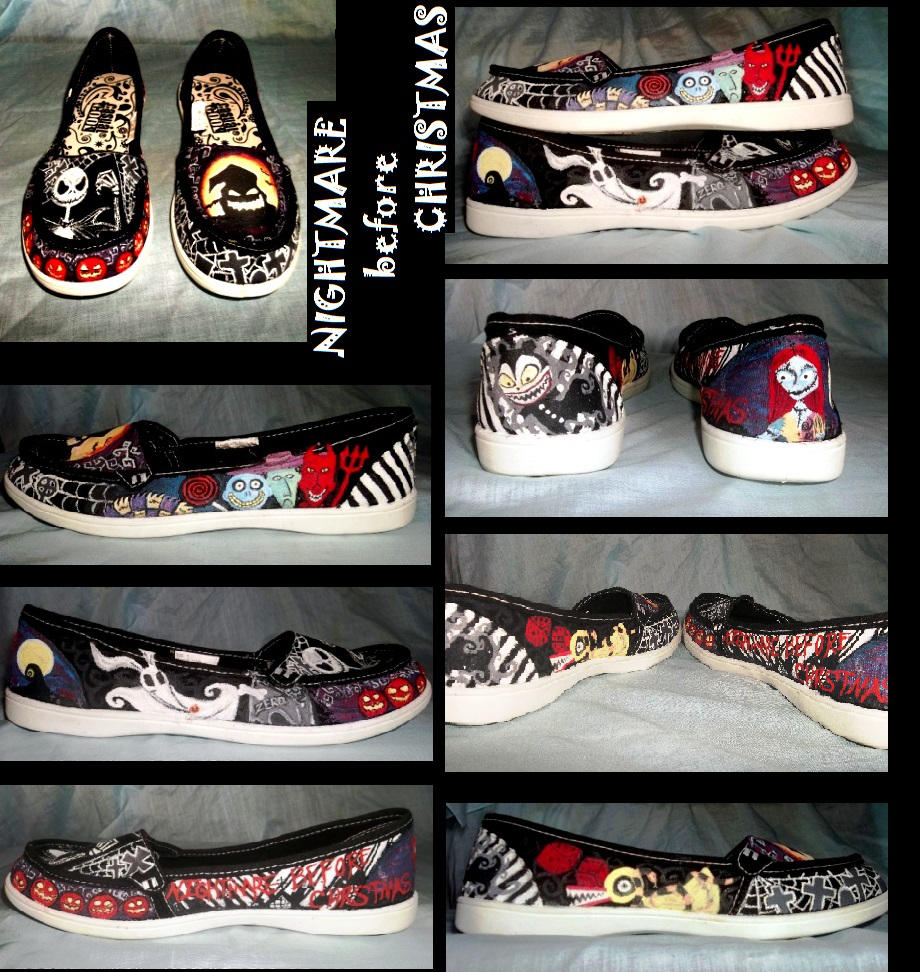 Nightmare Before Christmas Shoes by Blue-Moon-Reaper on DeviantArt
