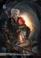 The witcher 2 Geralt and Triss by Dark-thief