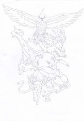Pokemon Final Dream Team Tattoo by RikaAkira