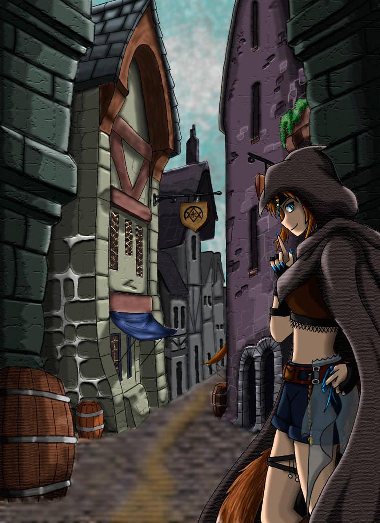 Thief in the alley (OC) by SakuraAtsue