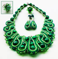 Haute couture designer ural malachite embroidered by fairytaledolls