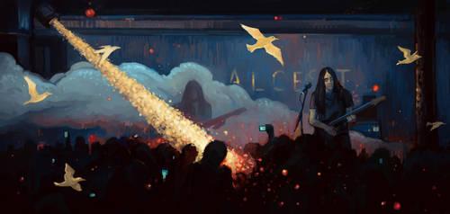 Alcest by w1tchbones