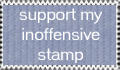 Inoffensive Stamp by 1footonthedawn