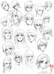 Study: Faces and hair female 2 by The-Nai