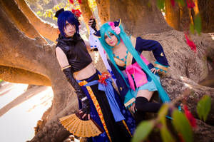 Hatsune Miku and Kaito by RingoxHitomi