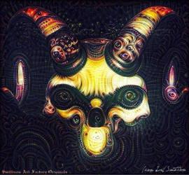 Decorative Demon Skull by JasonLoelSmithson