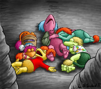 Fraggle snuggles by Negaduck9