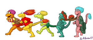 Fraggles are Love on the Run by Negaduck9