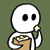 Popcorn Ghost Child Emoticon
