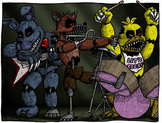 Bonnie and the Nightmares Rock Out by Negaduck9