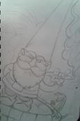 gnome and gecko by BoggieNightBoy