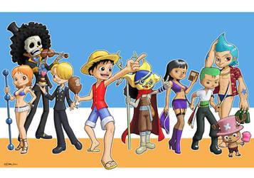 One Piece : Straw Hat Crew by zedew