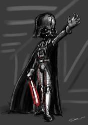 Chibi Darth Vader sketch by zedew