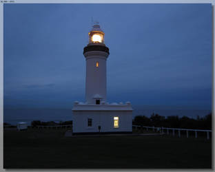 Norah Head Lighthouse - At Night by JohnK222