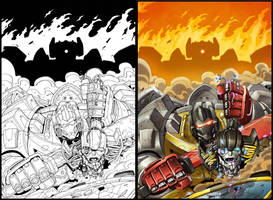 Max Dinobots 3 cover by MarceloMatere