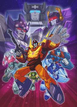 Transformers G1 Season 3 and 4 DVD cover by MarceloMatere