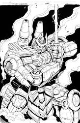 TF Dark Cybertron 11 cover inks by MarceloMatere
