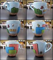Mario Level Mug by felinestein
