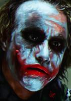 Joker / Heath Ledger by junkome