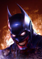 The Batman Who Laughs by junkome