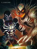 Agent Venom / Anti-Venom by junkome