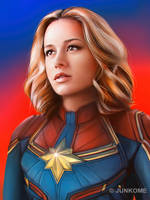 Captain Marvel / Brie Larson by junkome