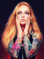 Inked girl by junkome