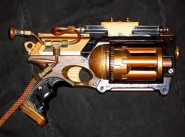Steampunk Mini Gattling Gun by pennyfarthing1893