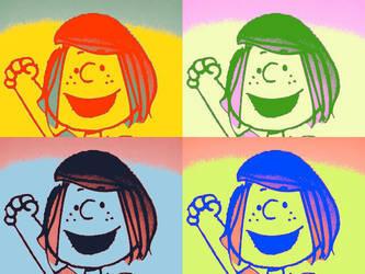 Peppermint patty pop art peanuts by CHARLIEMSPEARMAN