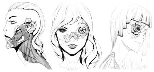 Female Faces 002 by AdrianDadich