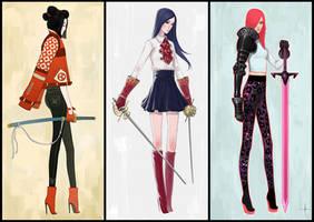 Modern Samurai, Musketeer and Knight by AdrianDadich