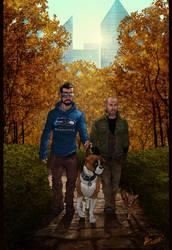 ::Walking The Dogs:: by ravekitten