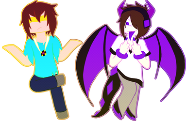 Skybrine and Enderlox by MonoTheGrump