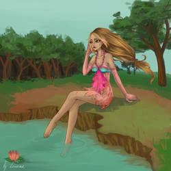 After battle - Flora Enchantix fairy by Lonome