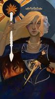 Tarot card for Empress Celene by Roastea