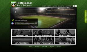 Professional Sports Pathways website by Bang-a-rang