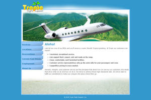 Tropic Flight Support (the very first site I made) by Bang-a-rang