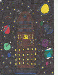 Dalek in space by WALLE1Doctor1Who