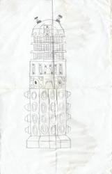 Another Dalek Doodle by WALLE1Doctor1Who