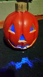New Blue Lit Pumpkin by WALLE1Doctor1Who