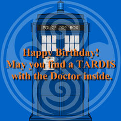 Happy Birthday 1 (Profile Picture) by WALLE1Doctor1Who