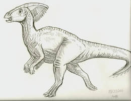Parasaurolophus by Troyodon