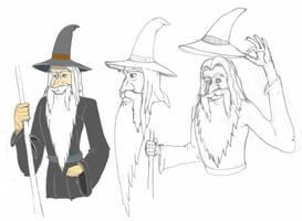 Disney Gandalf - Rough Draft by Troyodon