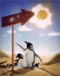 Penguin migration by Cestica