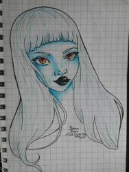 Garota Azul by Biankaah