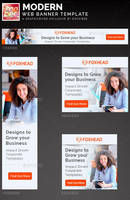 Modern Web Banner Template by loswl